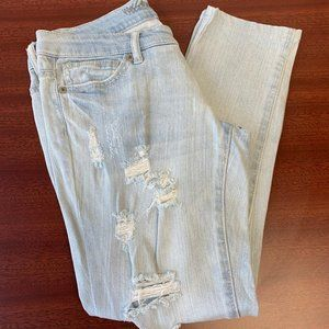 Mossimo Destroyed Skinny Crop Jeans